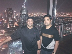 Taqi Askari with His Millionaire Mentor, COM MIRZA @ The Burj Khalifa