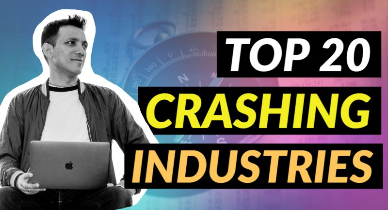 top 20 crashing industries