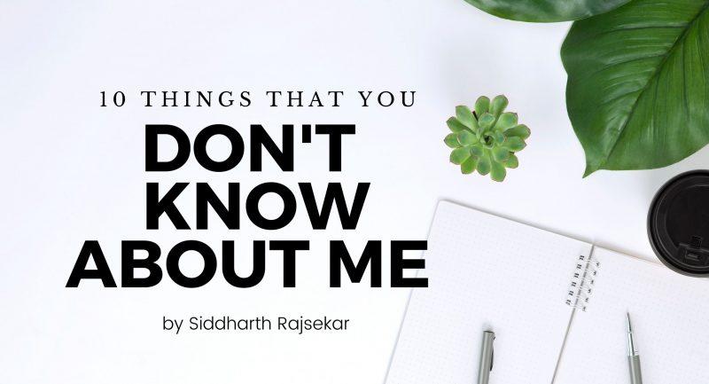 siddharth rajsekar interests