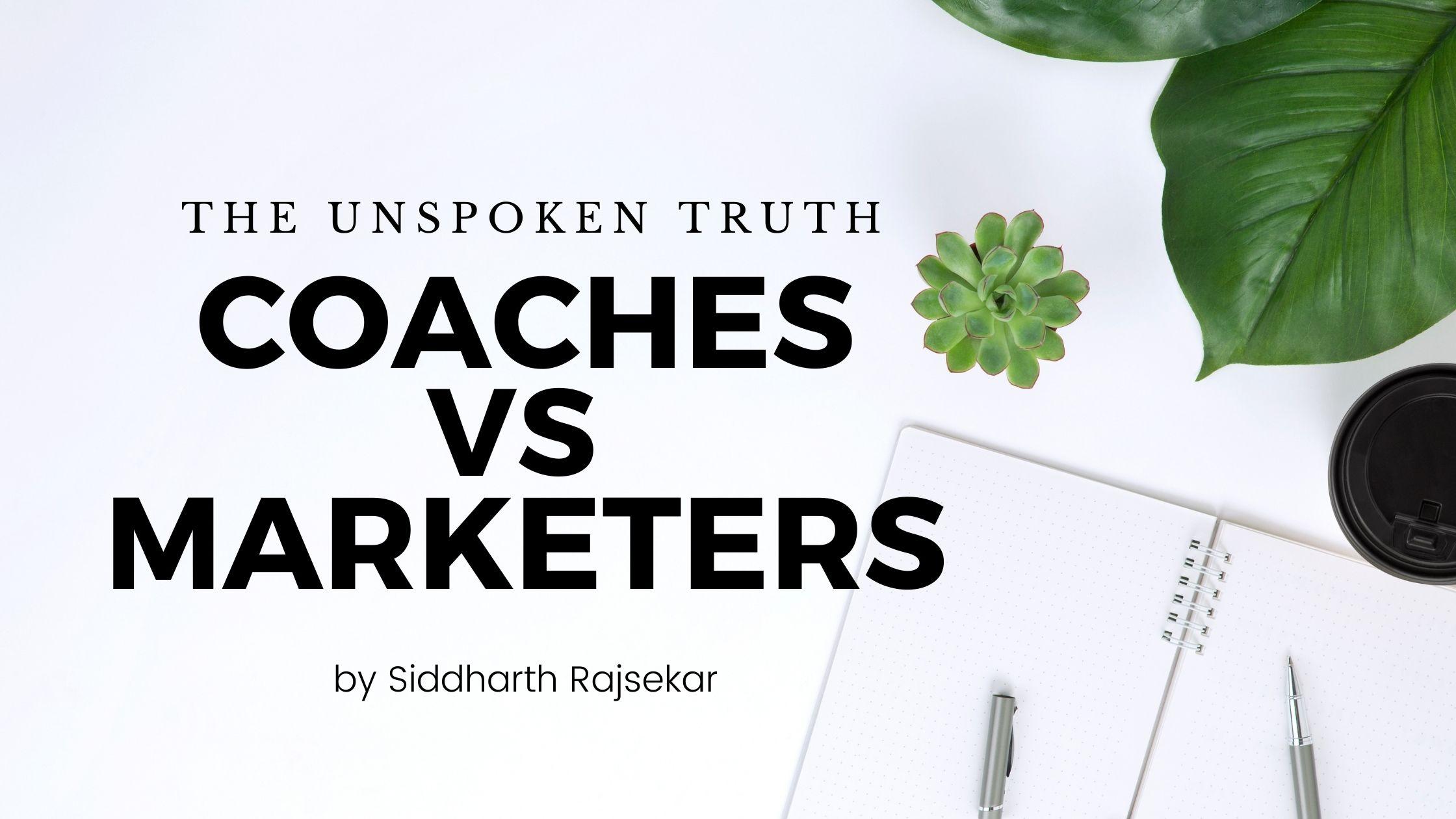 coaches vs digital marketers