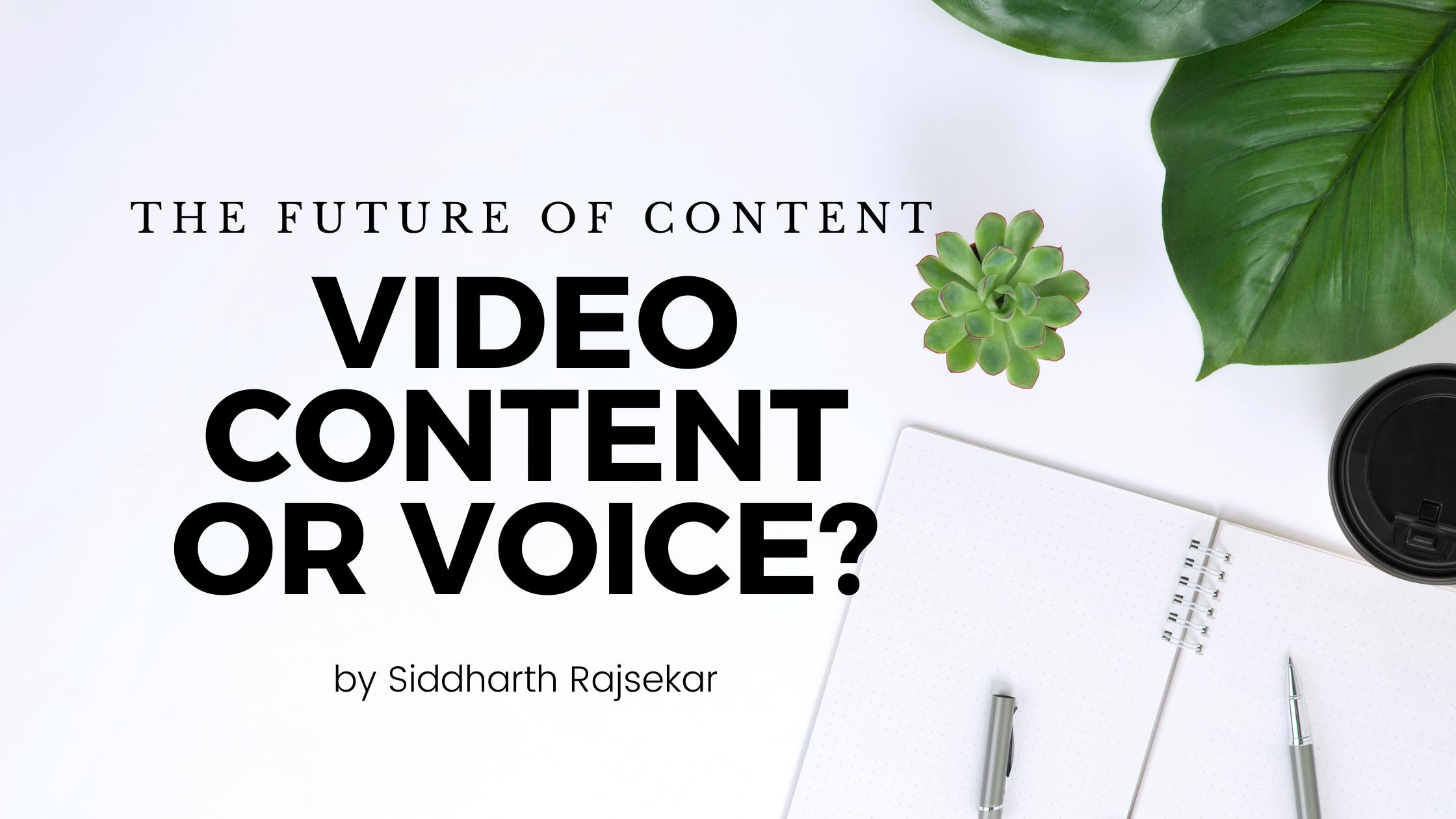video vs voice